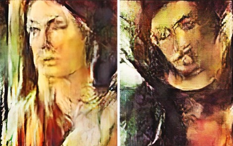 Four AI-generated portraits of figures.